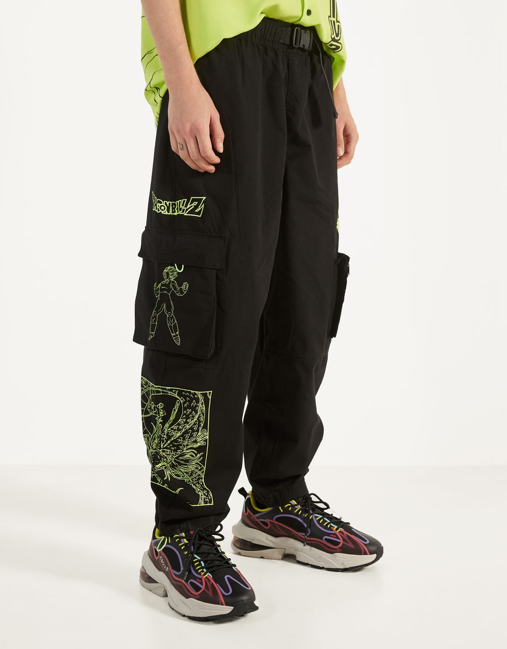 Pantalon cargo Dragon Ball Z x Bershka
