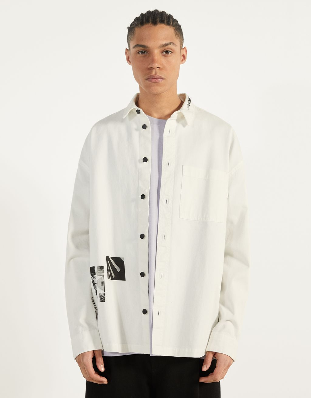 Overshirt with print