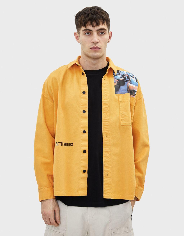 Jachetă overshirt cu imprimeu
