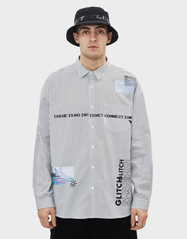 Poplin shirt with print