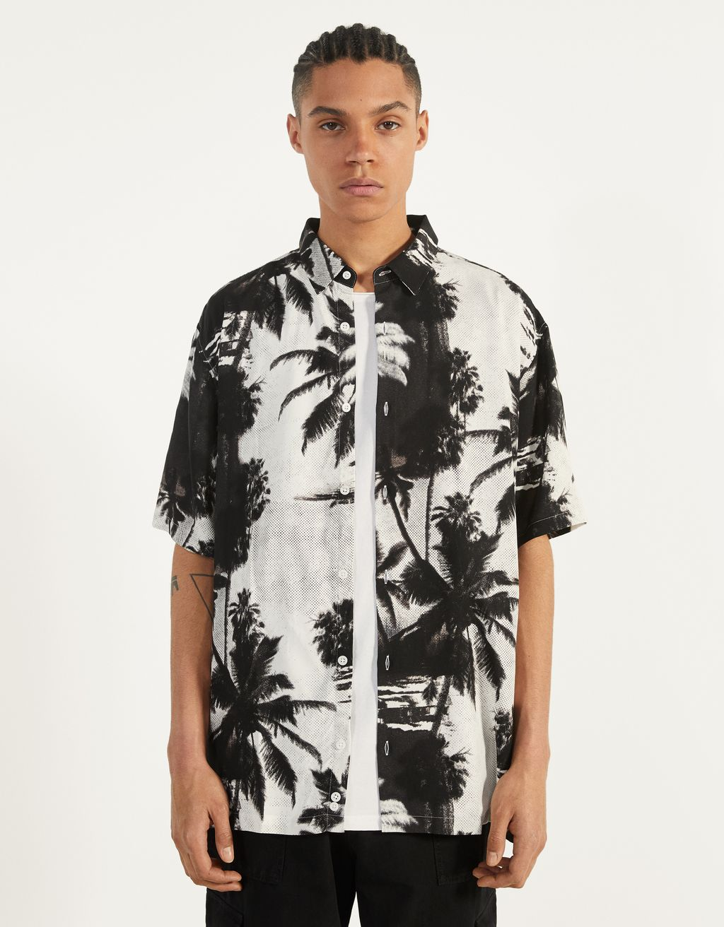 Tropical print shirt