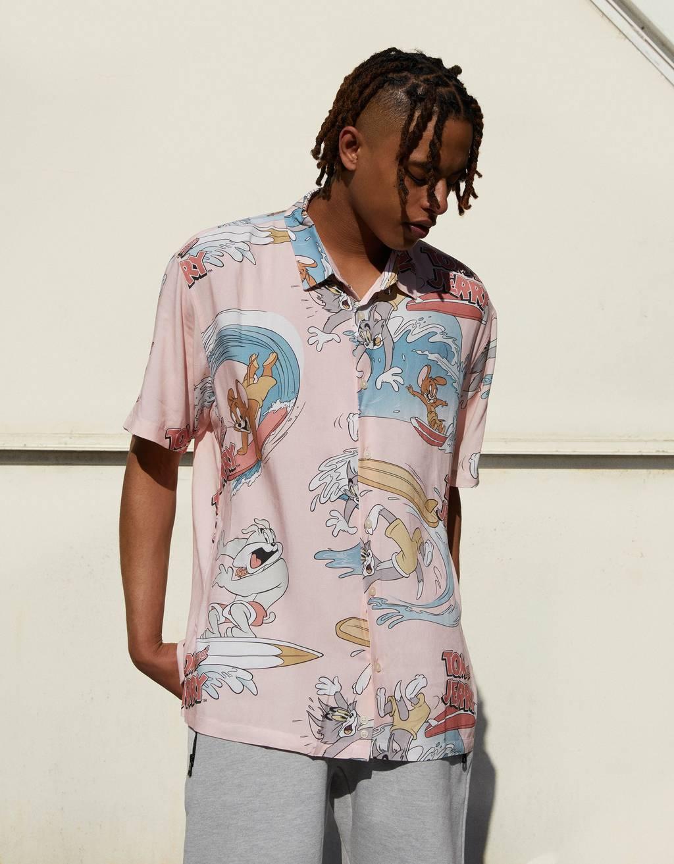 Tom & Jerry print shirt