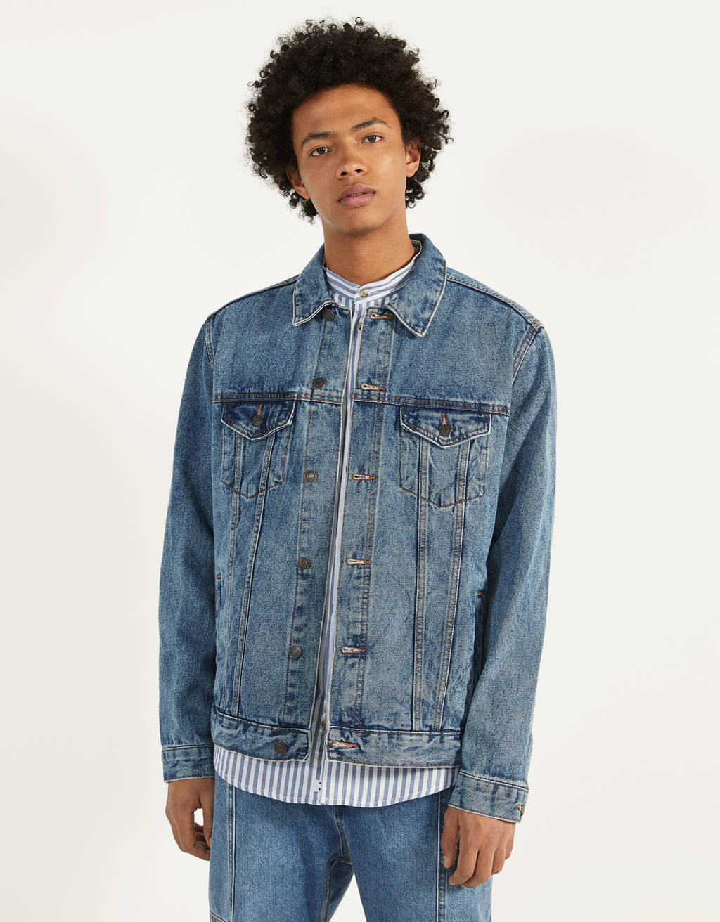 Regular fit denim ceket