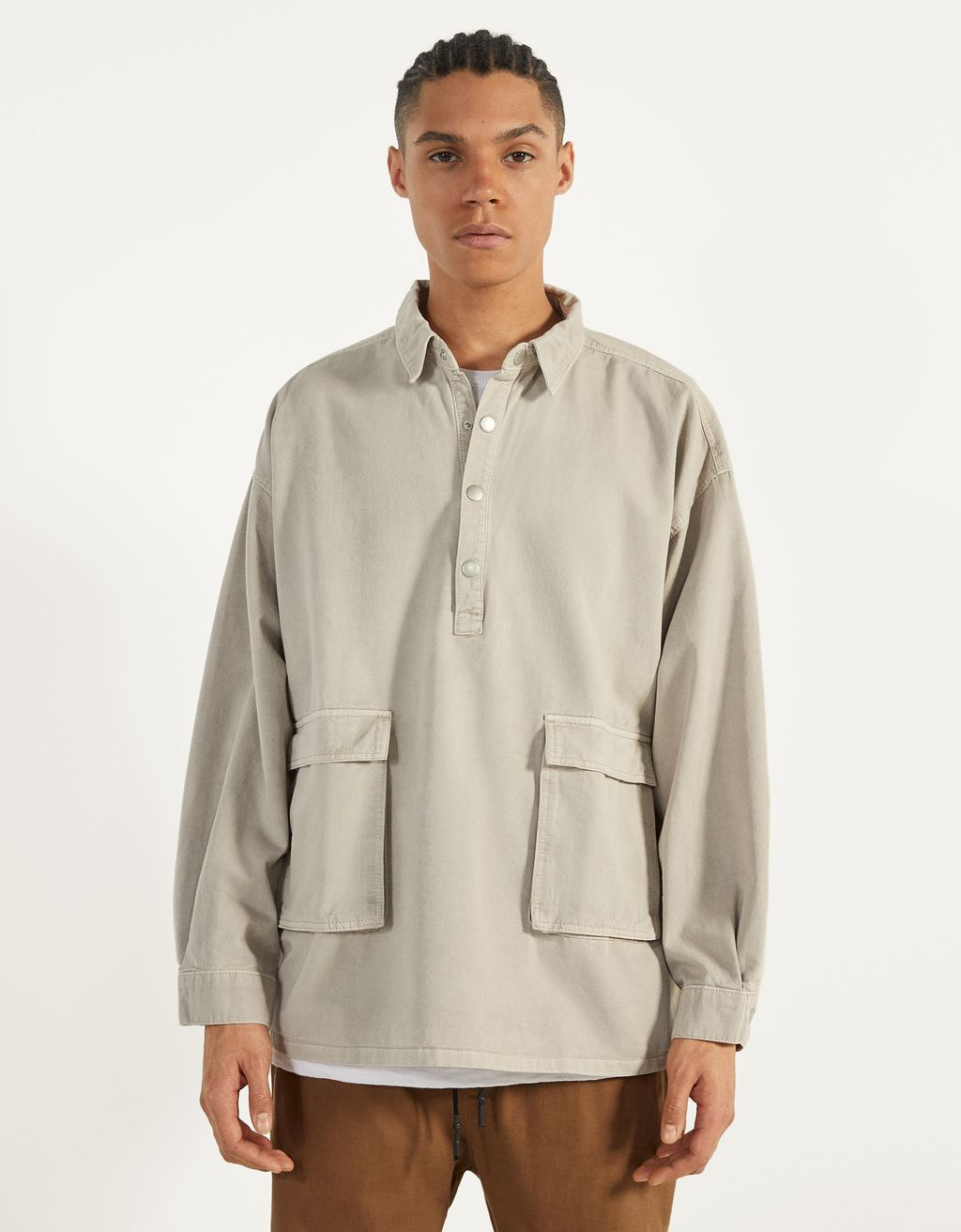 Half-zip overshirt