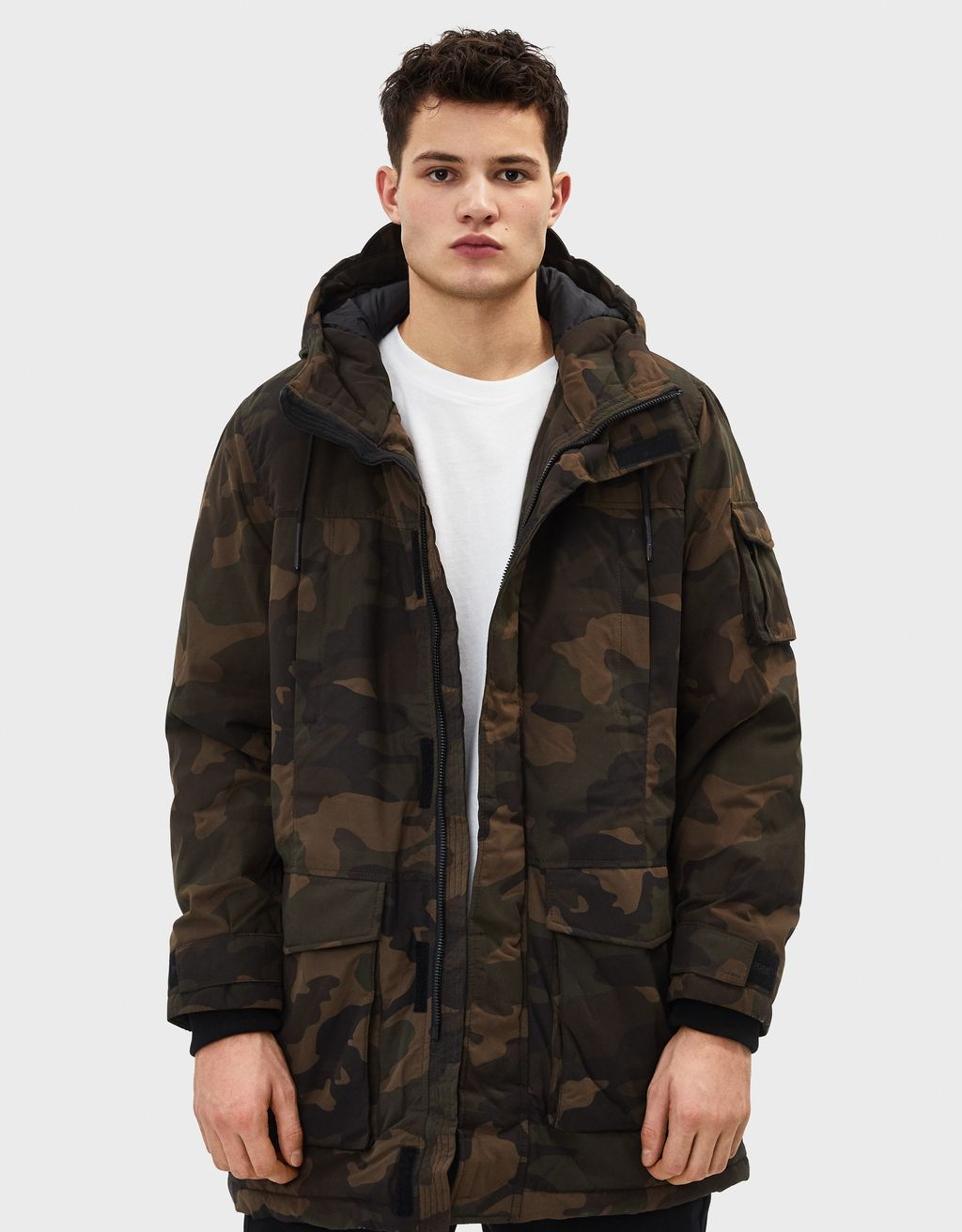Camouflage technical parka