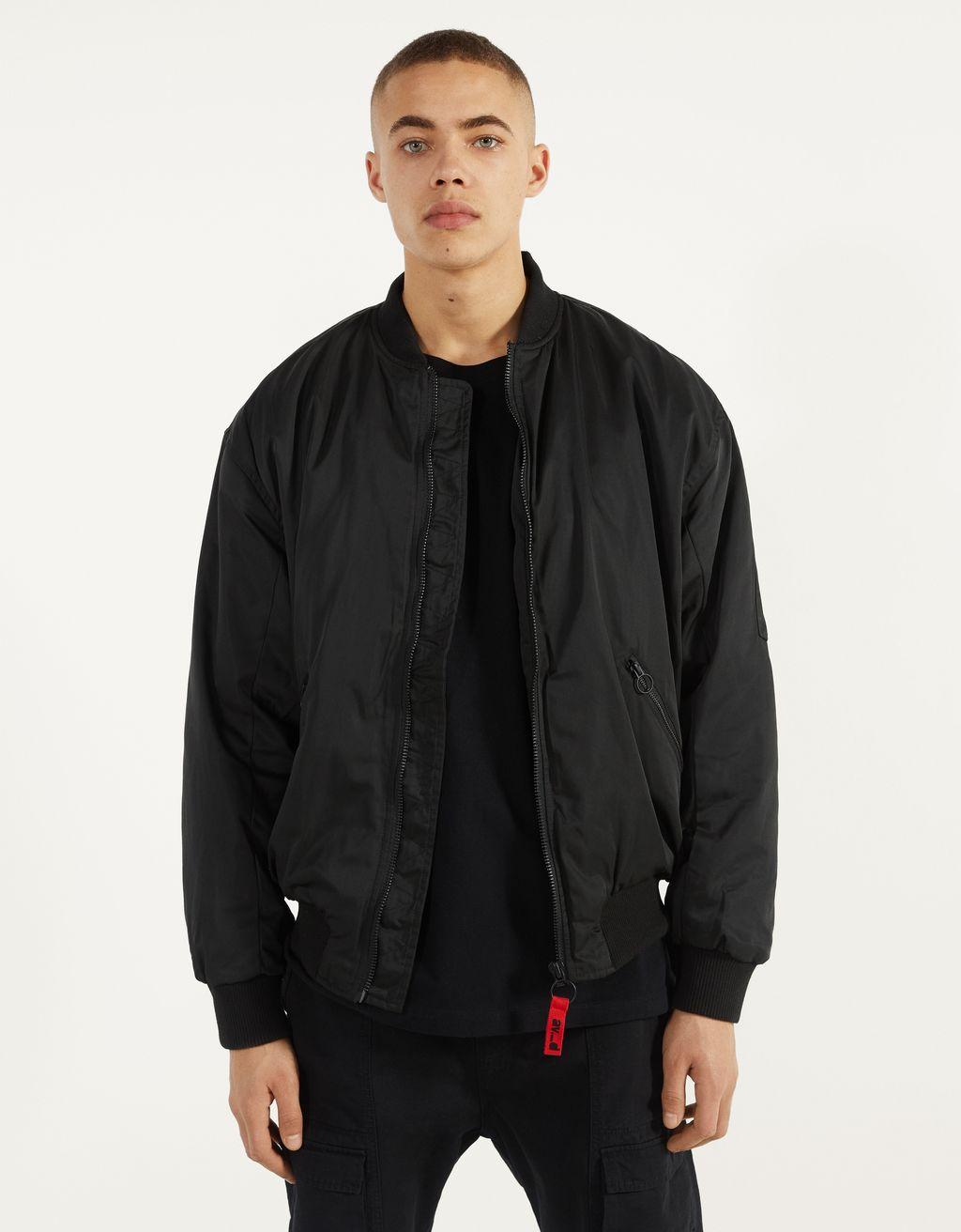 Oversize printed bomber jacket