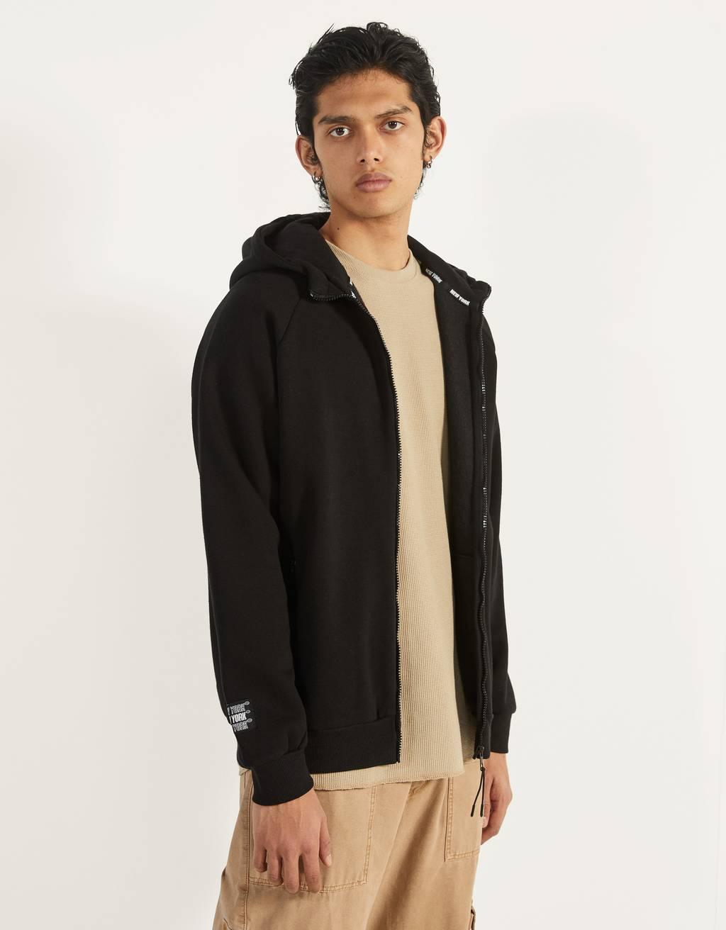 Sweatshirt med print