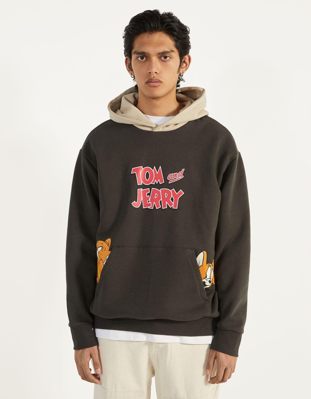 Felpa Tom & Jerry con cappuccio