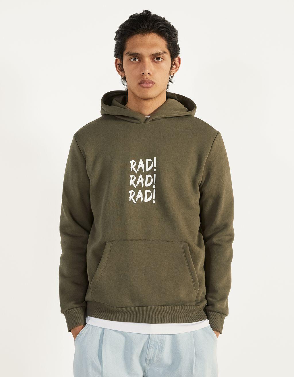Desenli kapüşonlu sweatshirt