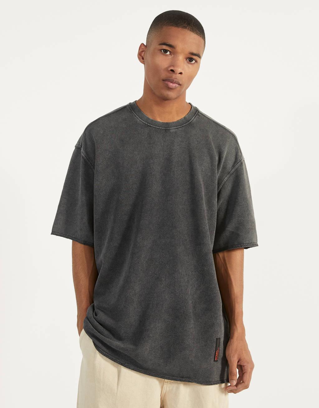 Shirt aus Plüschgewebe