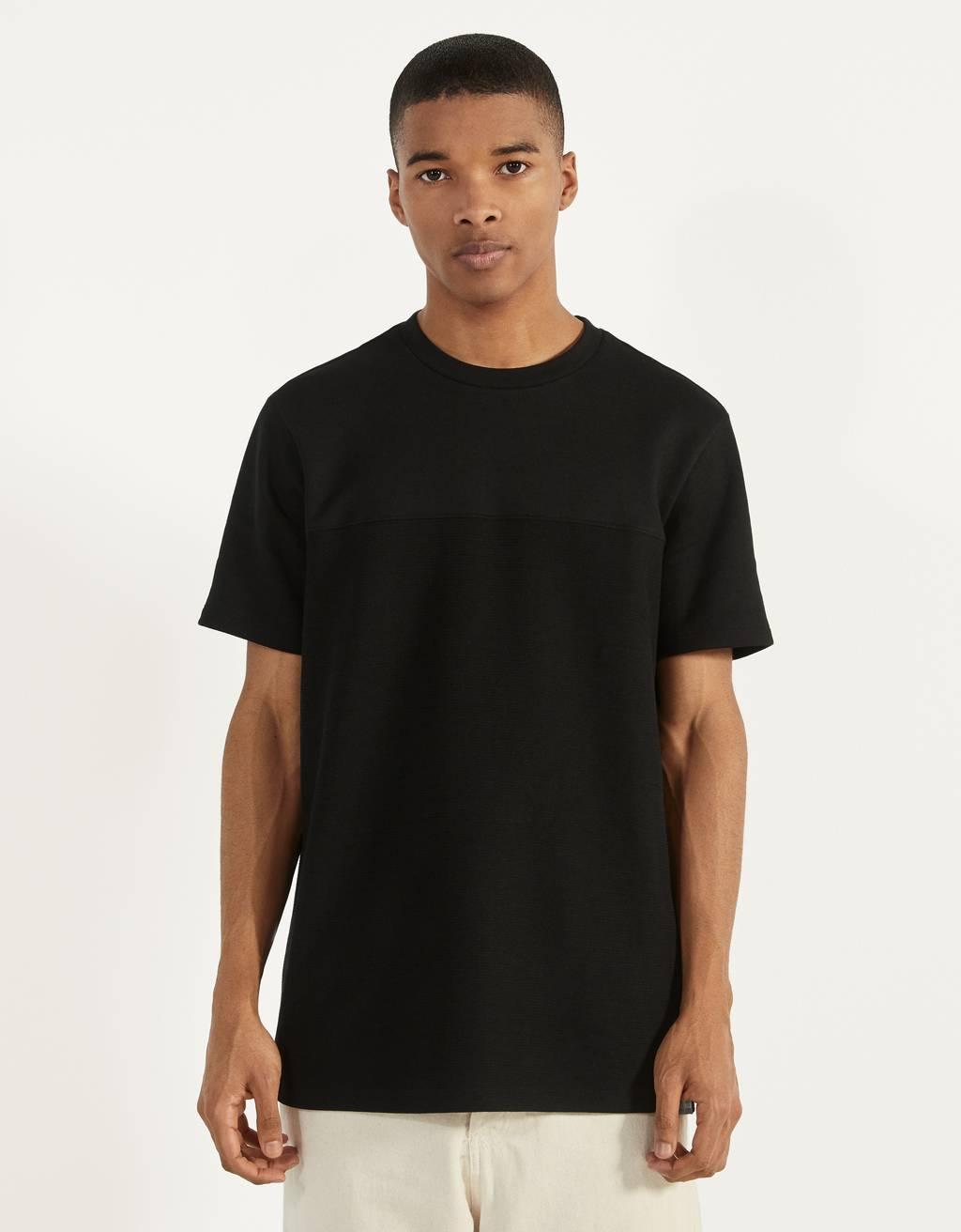 Kombiniertes Strick-Shirt