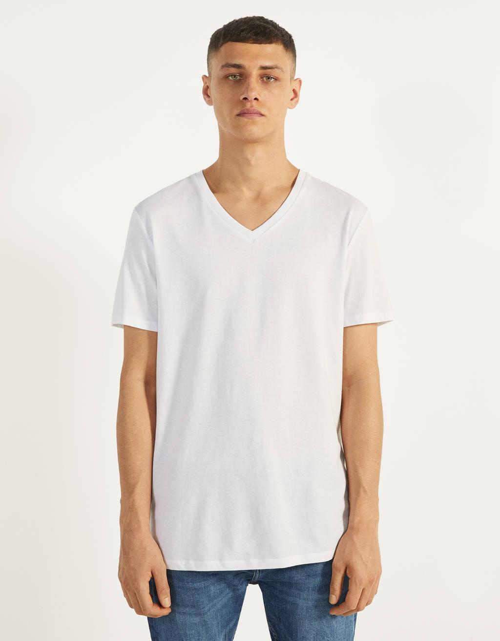 Maglietta con scollo a v