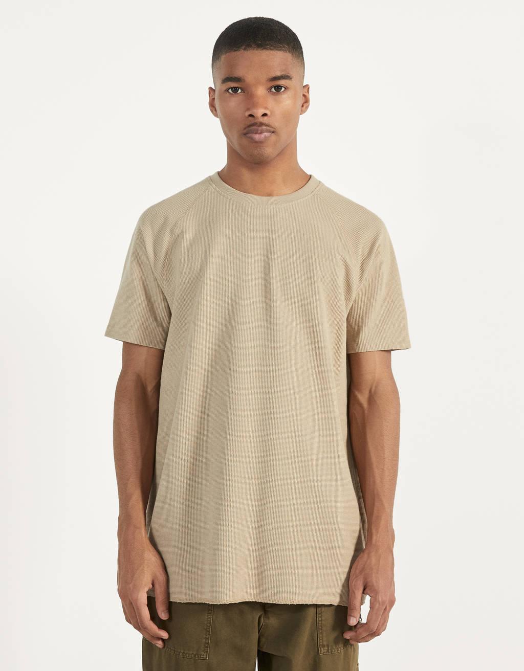 Waffle texture T-shirt