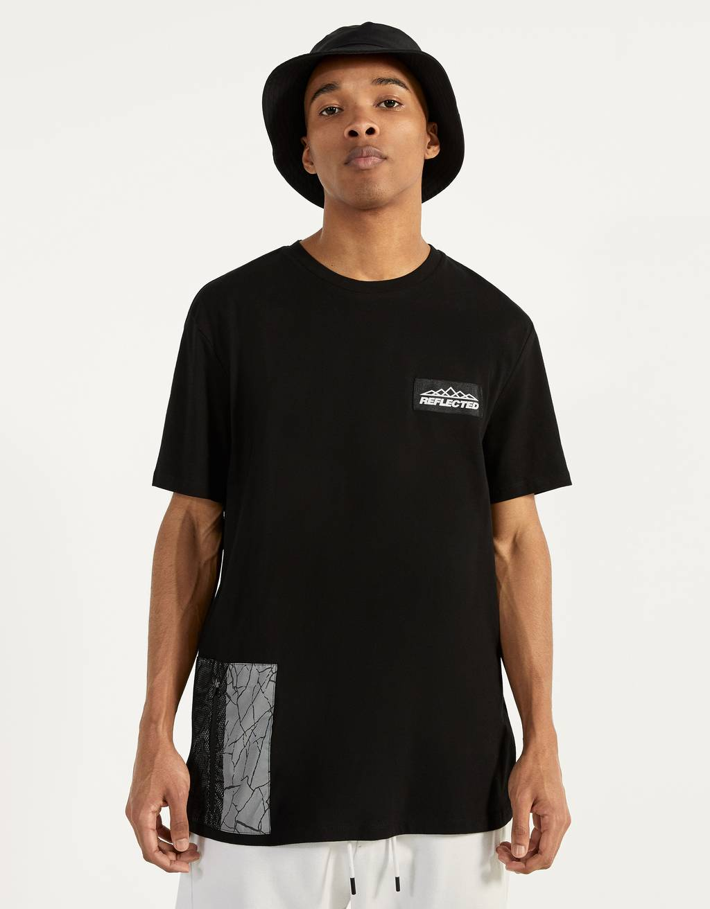 T-shirt with reflective pocket