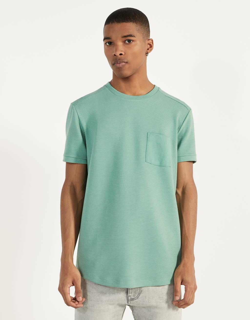 Тениска с къс ръкав и джоб