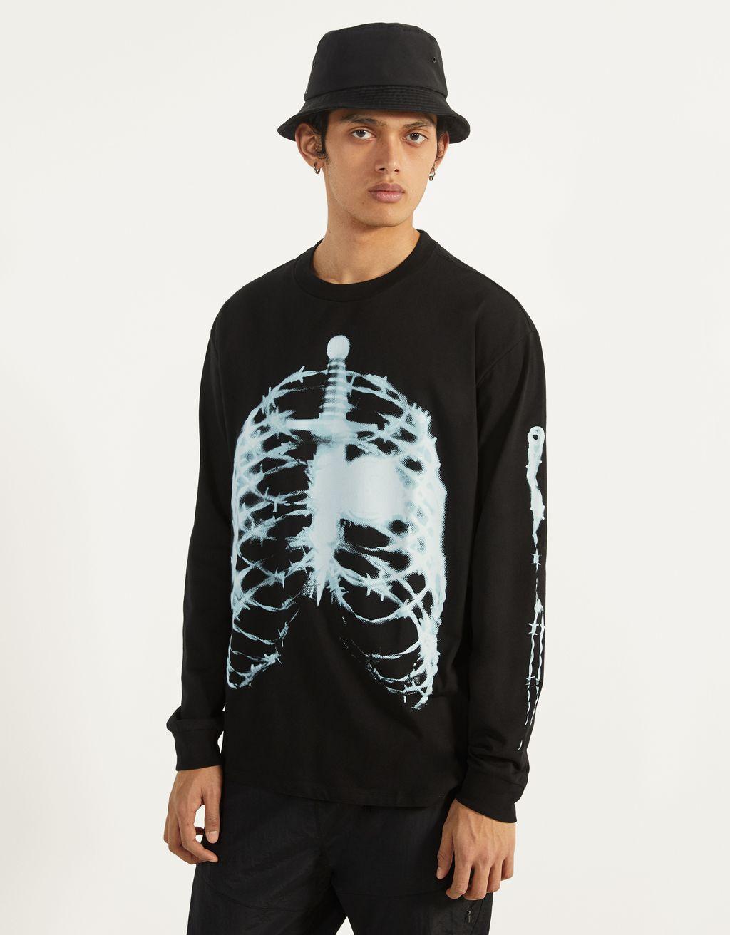 Post Malone skeleton long sleeve T-shirt