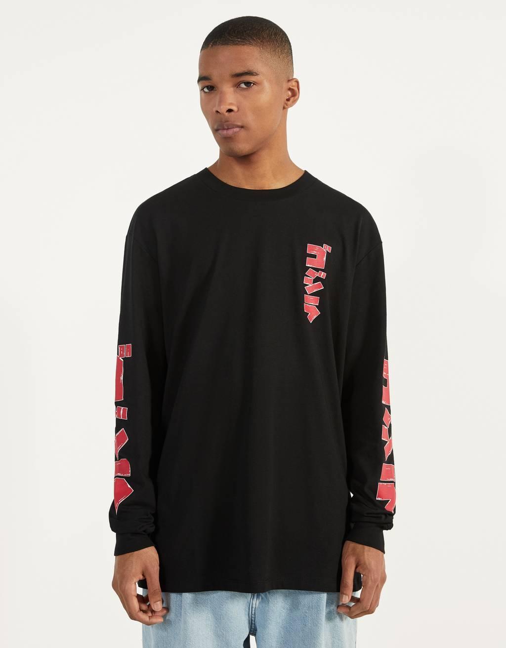 Long sleeve Godzilla T-shirt