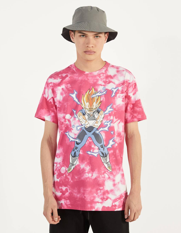 Kamiseta, tie dye, Dragon Ball Z x Bershka