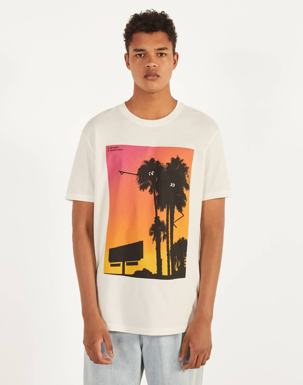 T-shirt met palmprint
