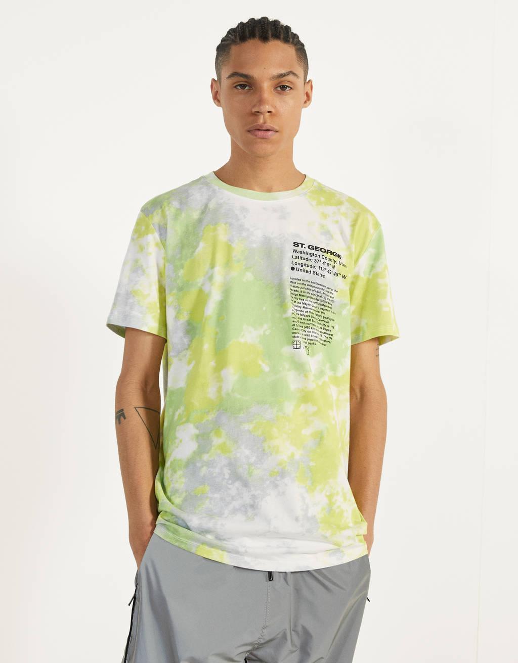 T-shirt imprimé dégradé