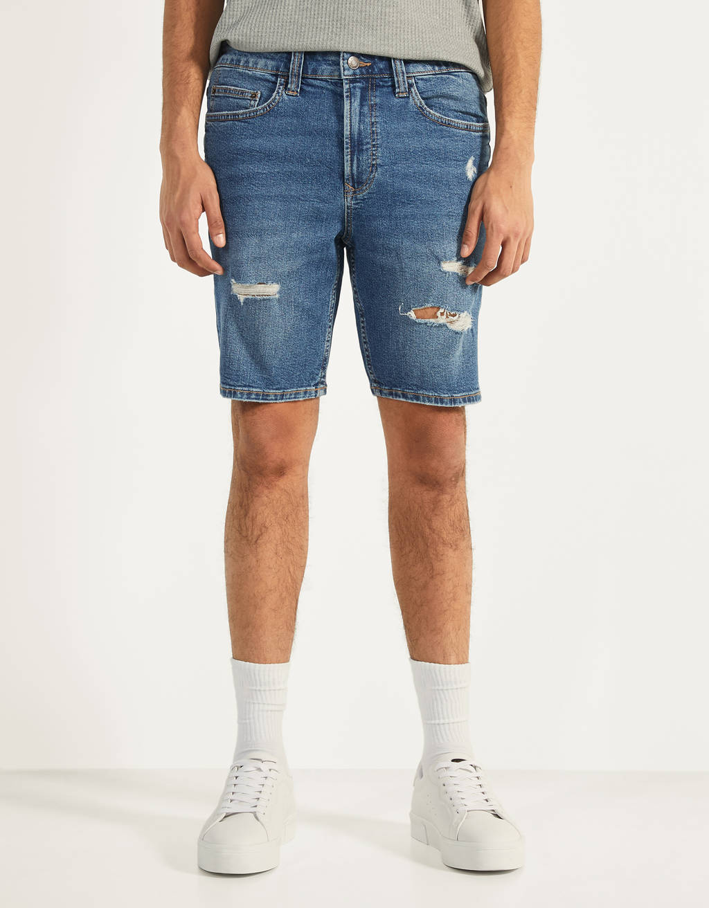 Skinny fit shorts i denim