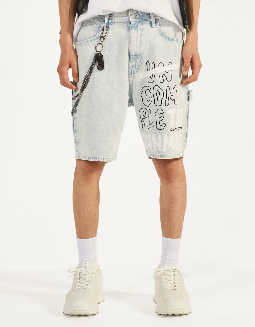 UV React denim Bermuda shorts