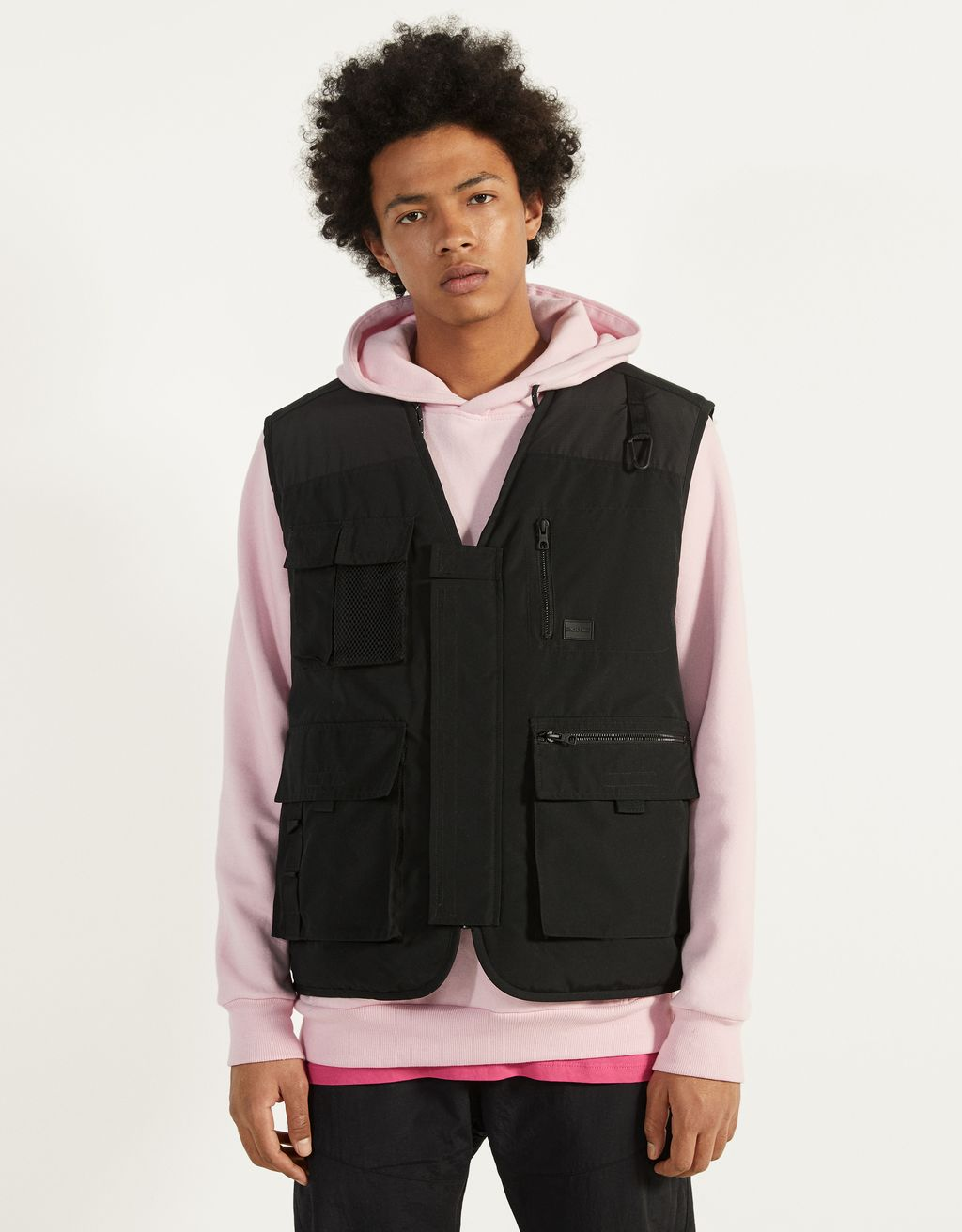 Multi-pocket quilted vest