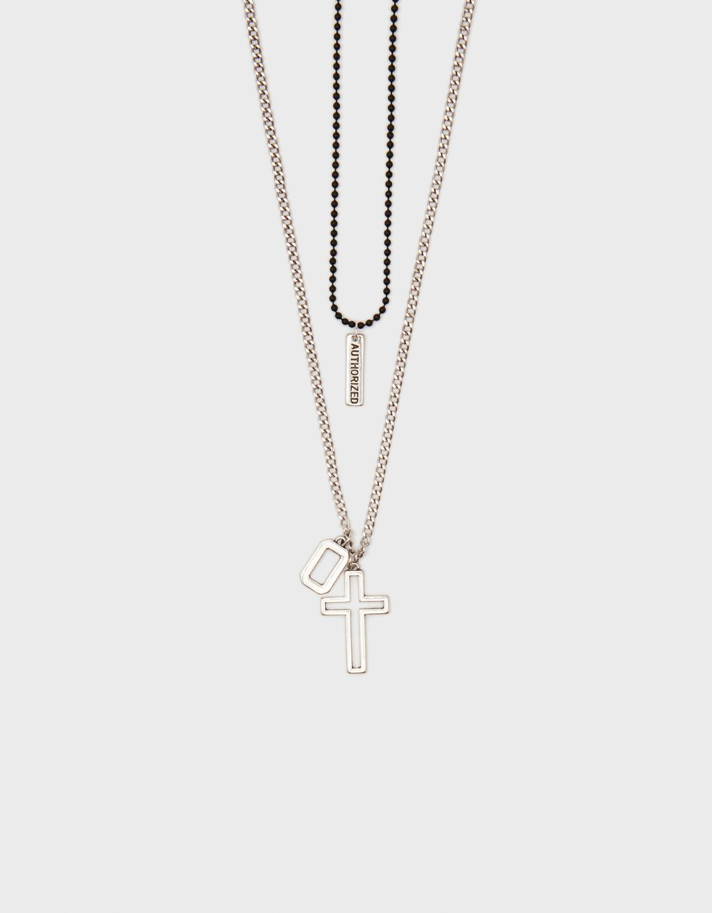 Set of necklaces with cross pendant