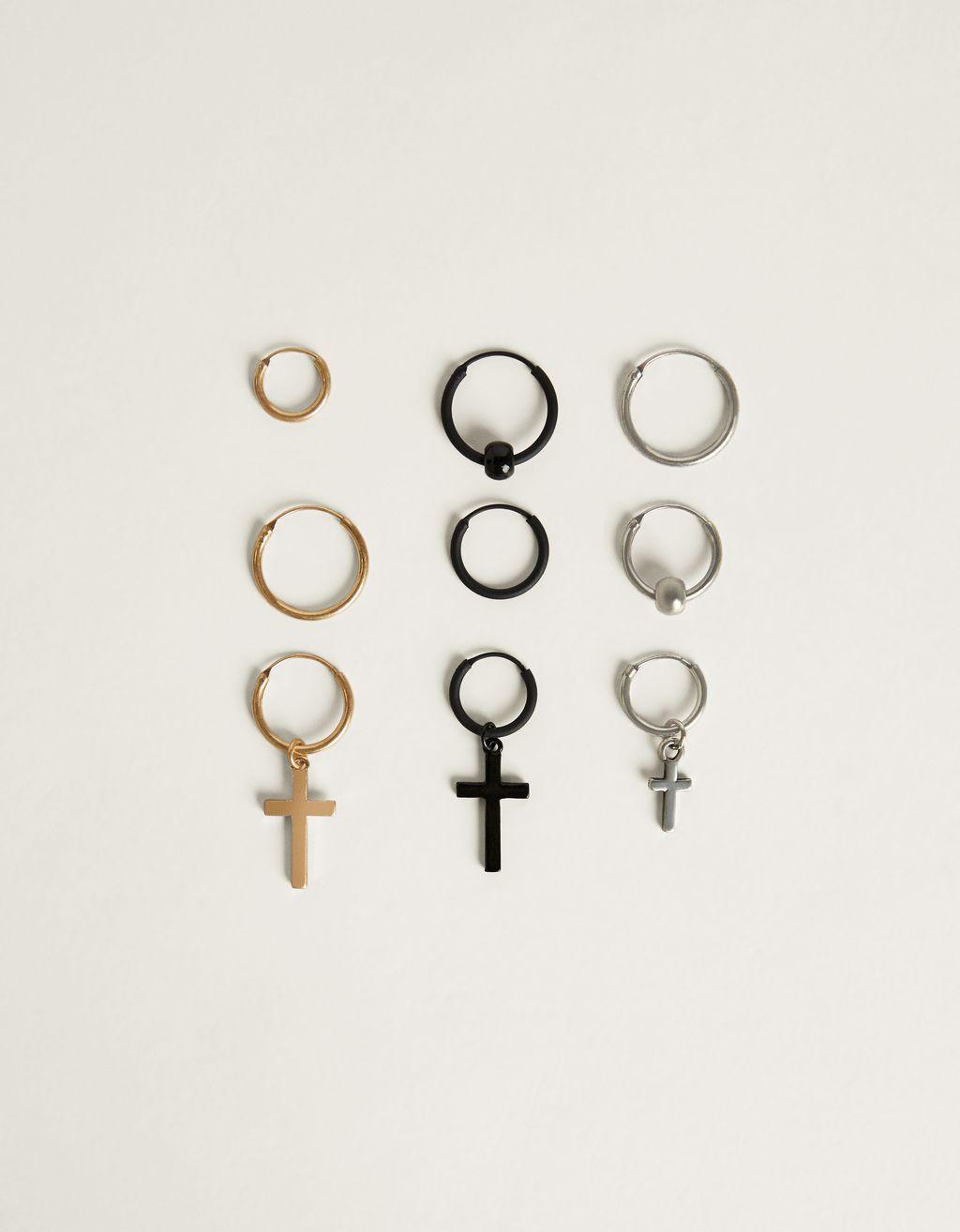 Set de pendientes con cruz
