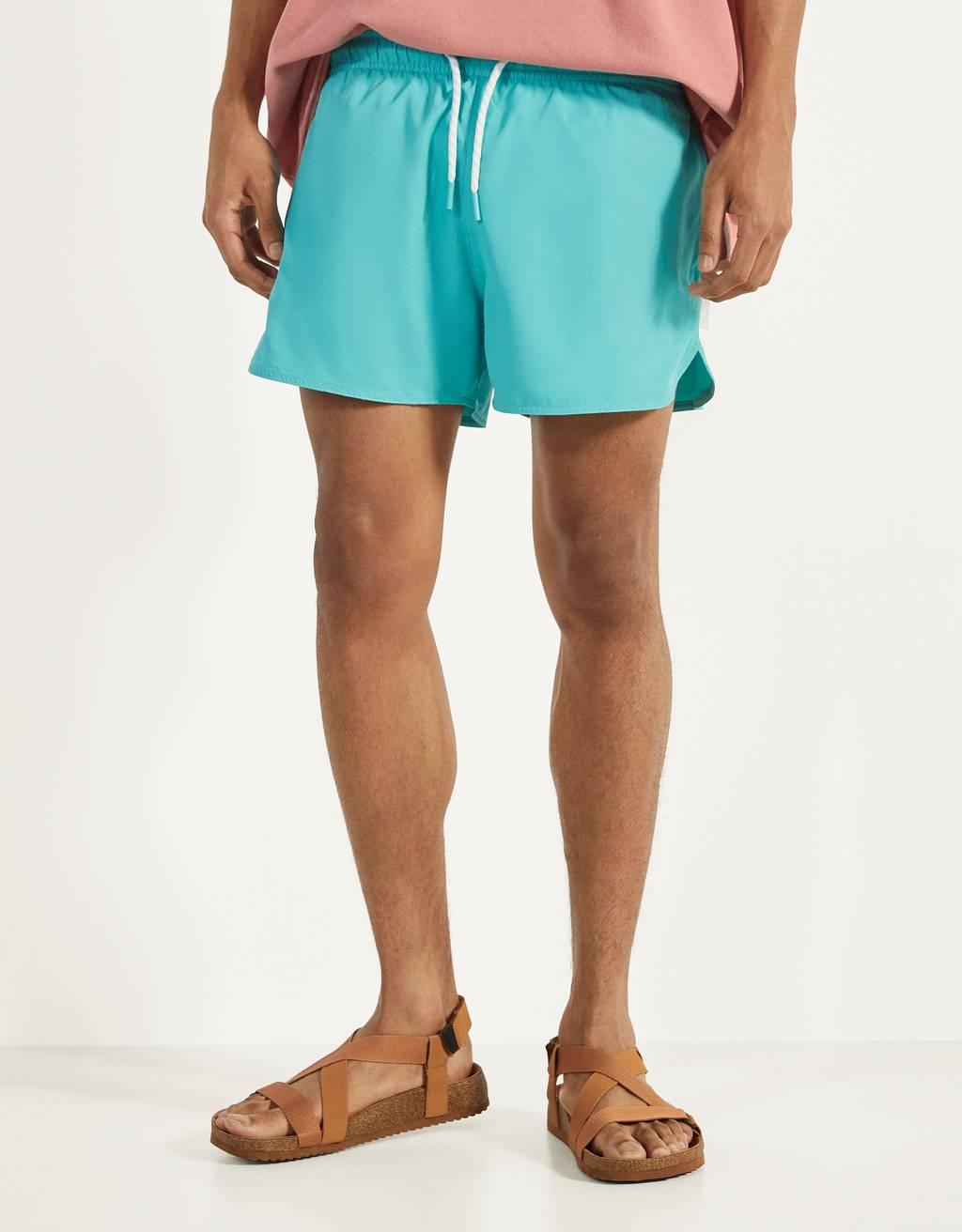 Едноцветни бански тип шорти