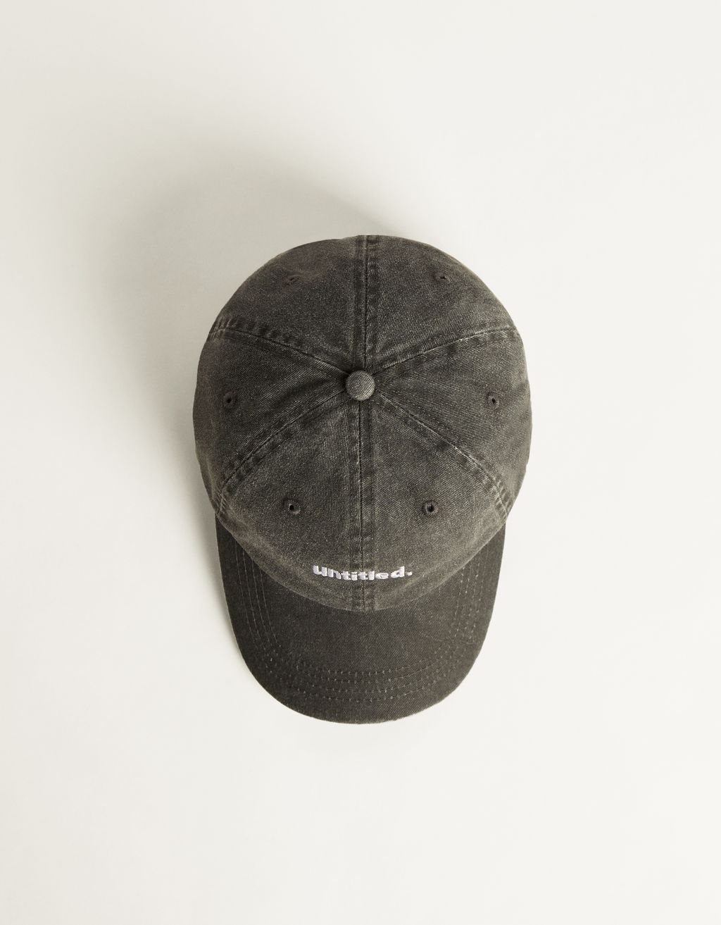 Faded-effect cap with embroidery