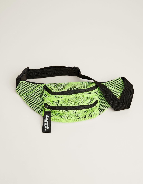 Belt bag with mesh detail