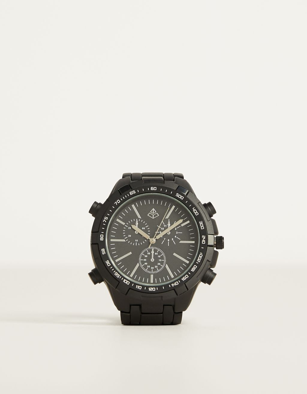 Metal analogue watch