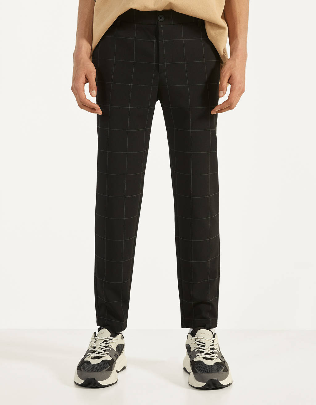 Checked Skinny Fit trousers