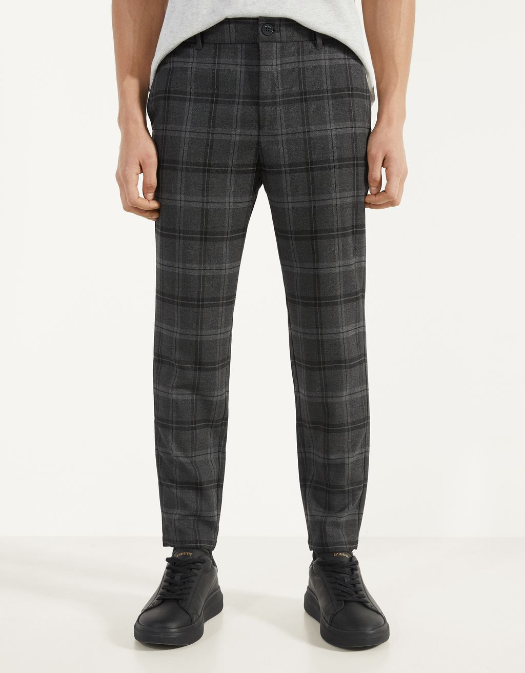 Pantalon coupe skinny à carreaux
