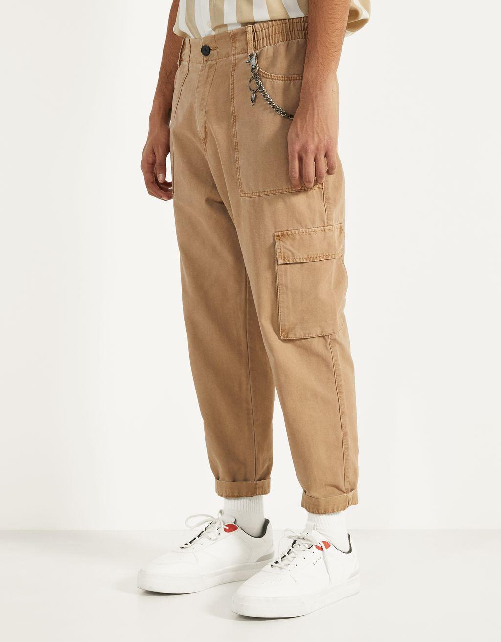 Pantaloni cargo cu lanț