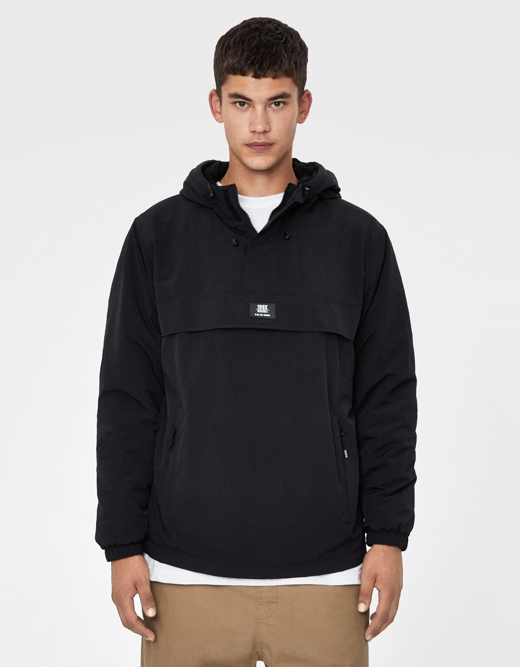 Pouch pocket quilted jacket