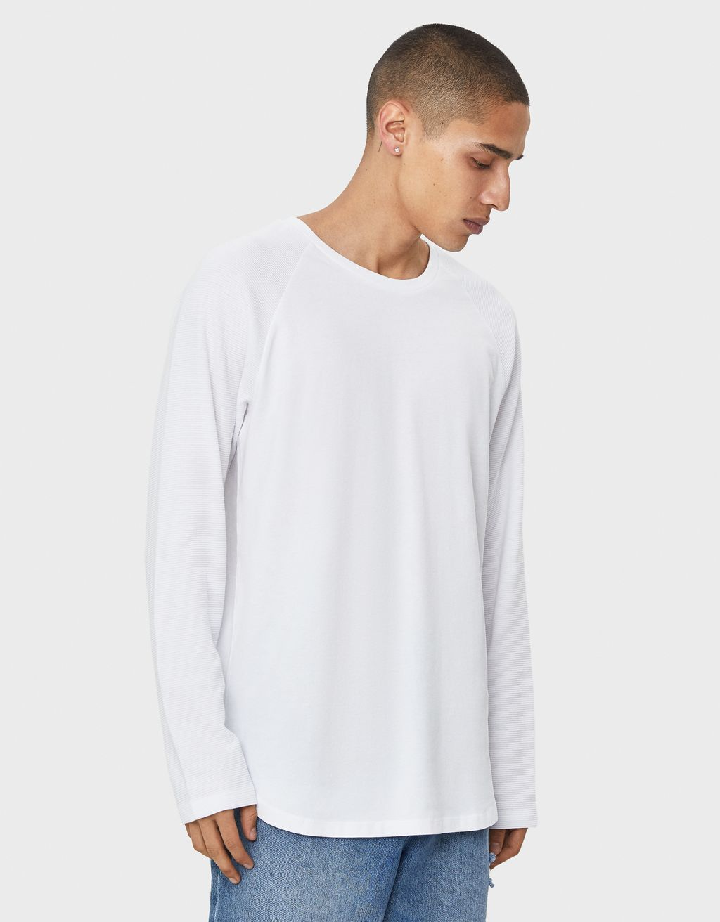 Raglan sleeve ottoman sweater