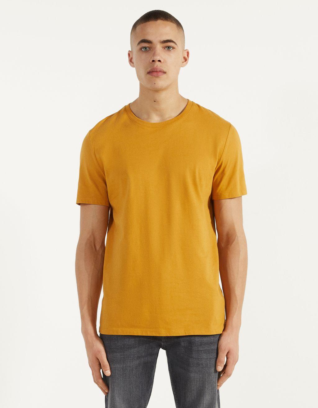 Tricou cu guler rotund