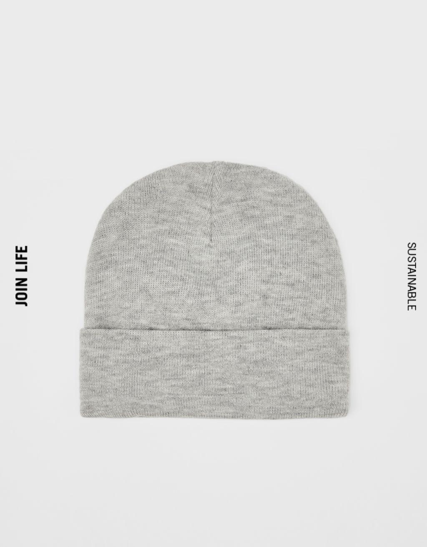 Unifarbene Beanie-Mütze