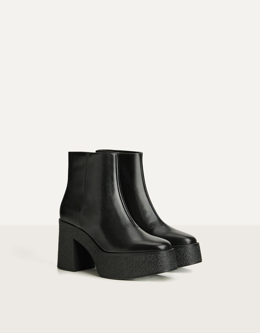 Platform high-heel ankle boots