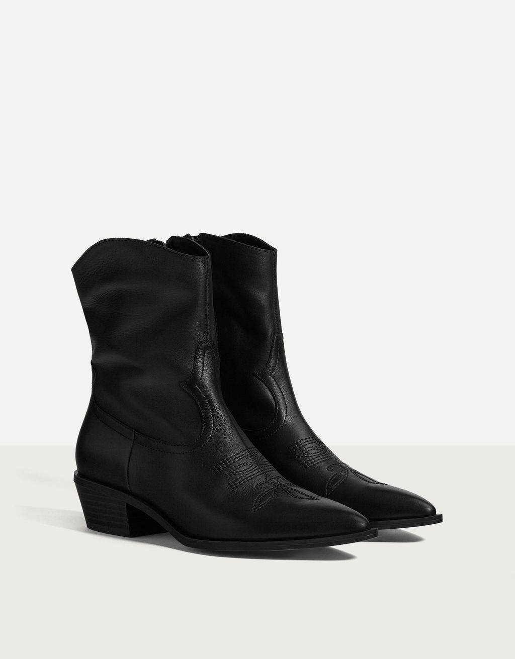Bottines pointues cuir