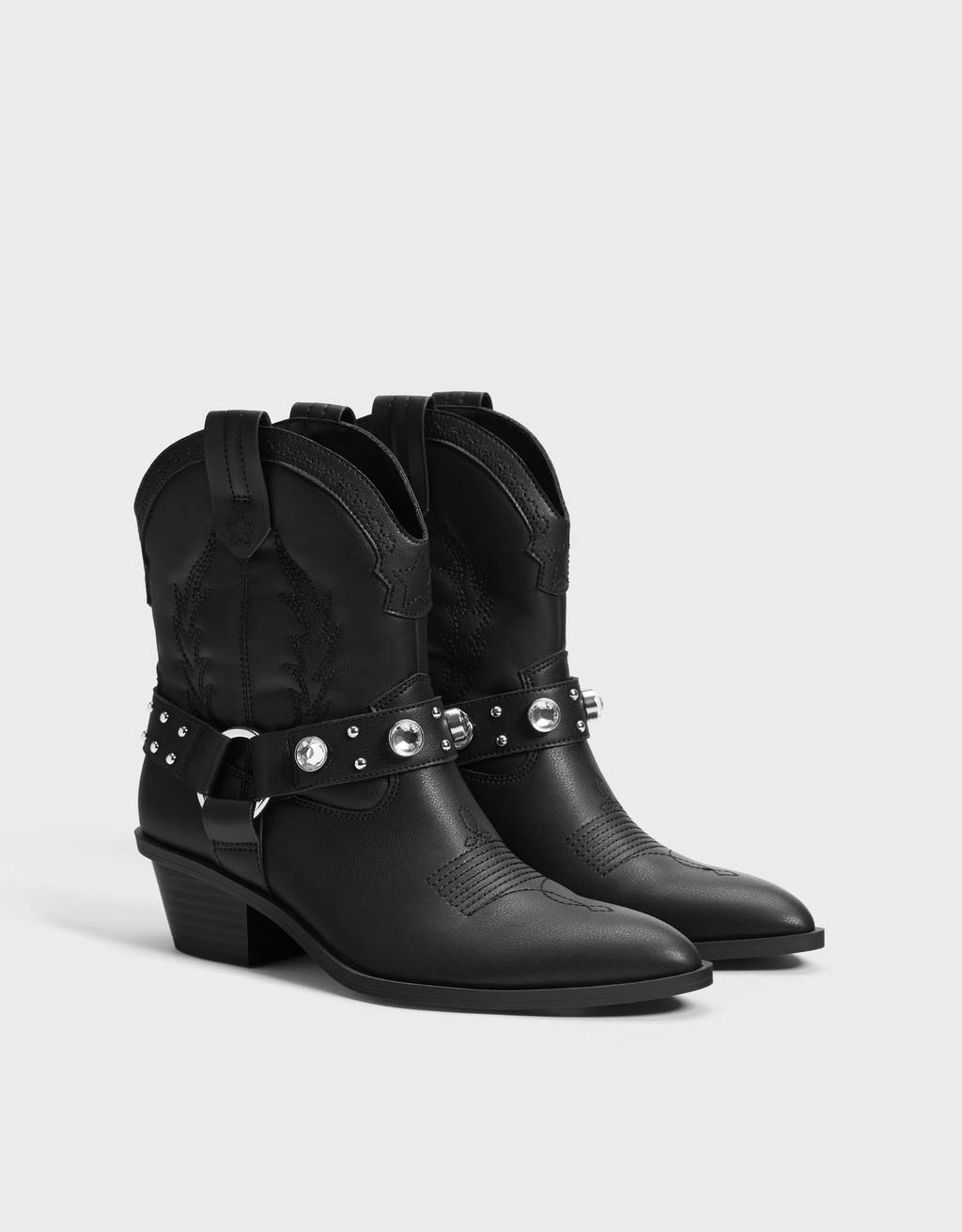 Cowboy ankle boots with gems