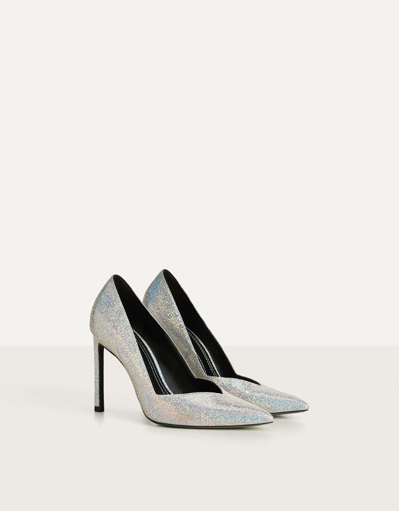 Glitter stiletto heels