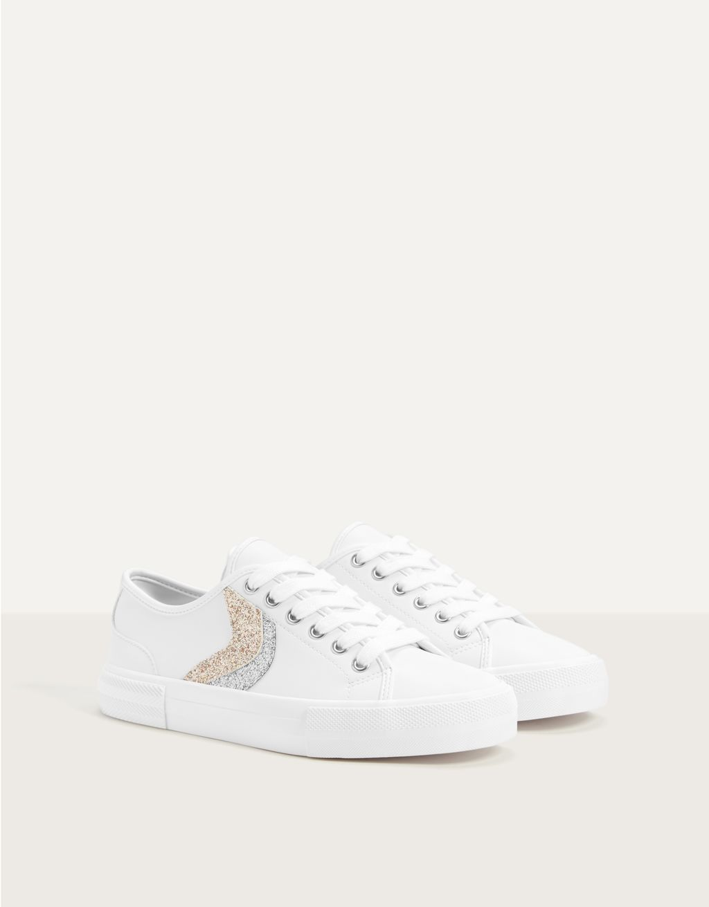 Trainers with glitter detail
