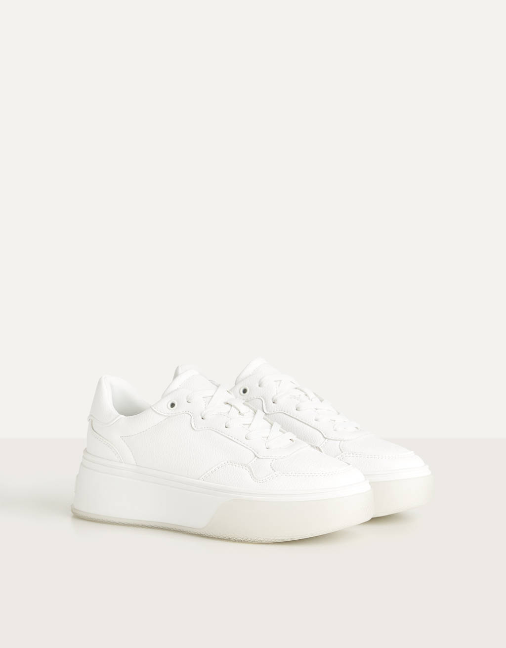 Platform trainers with translucent sole