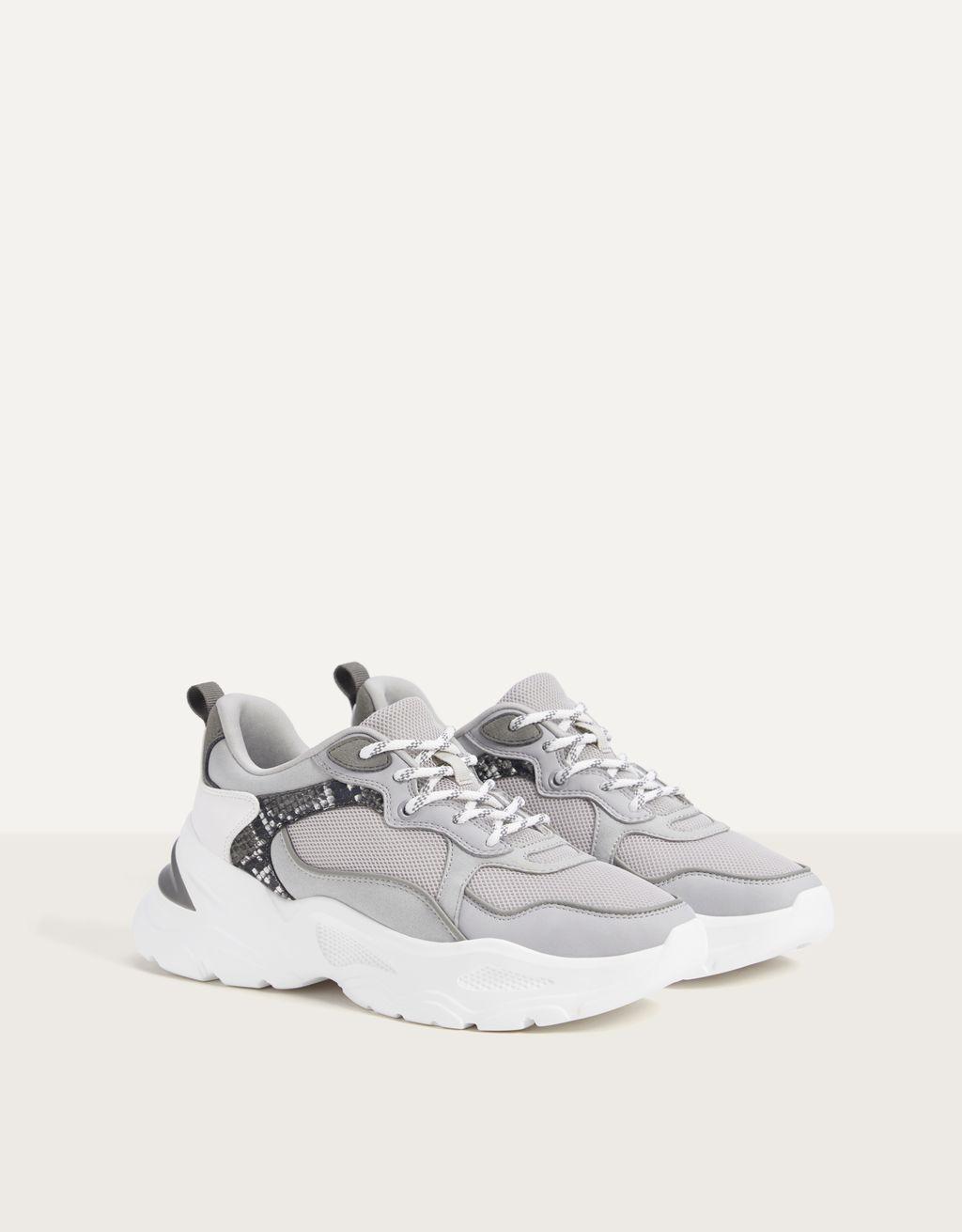 Kontrast fileli spor ayakkabı