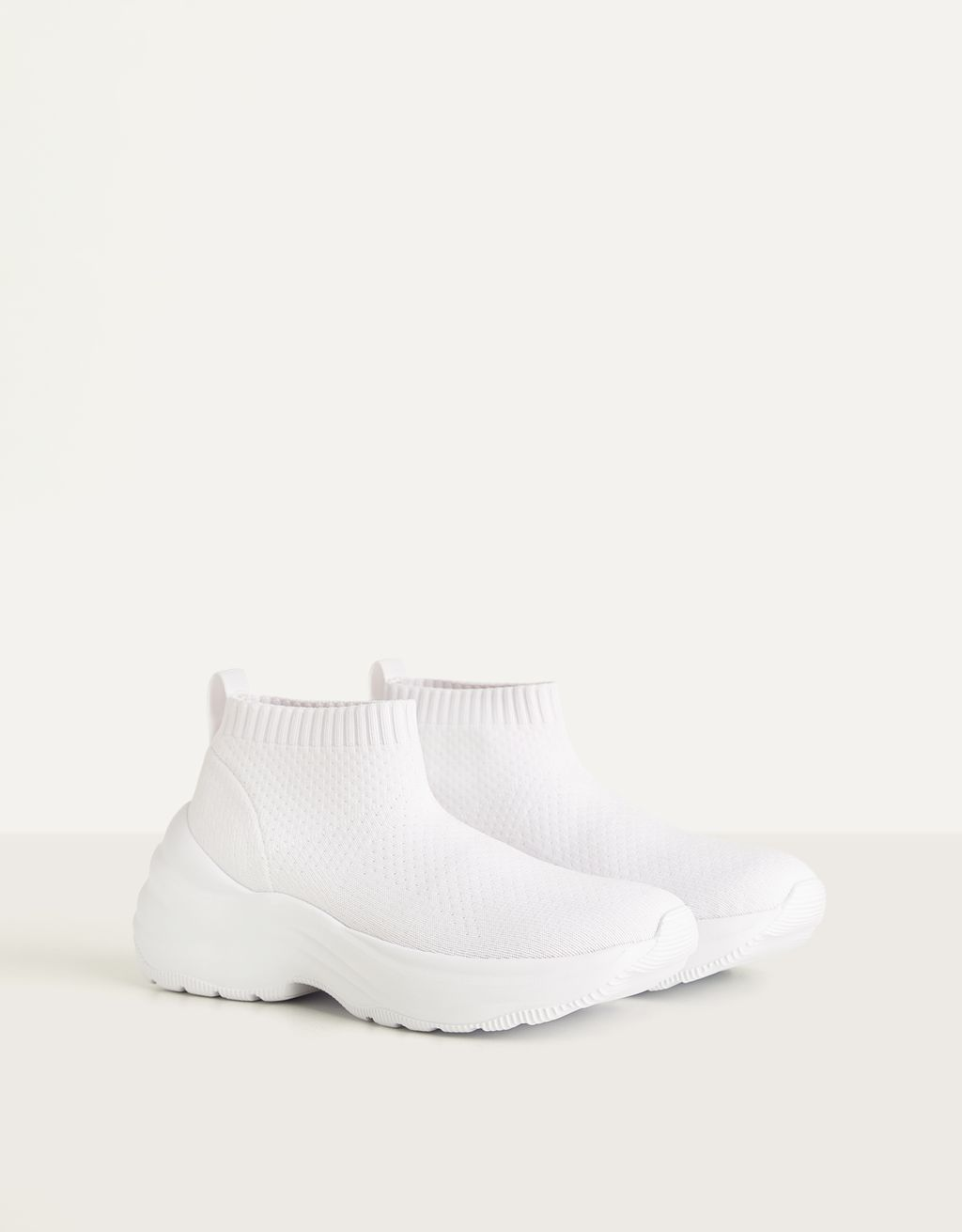 Sock-style platform trainers