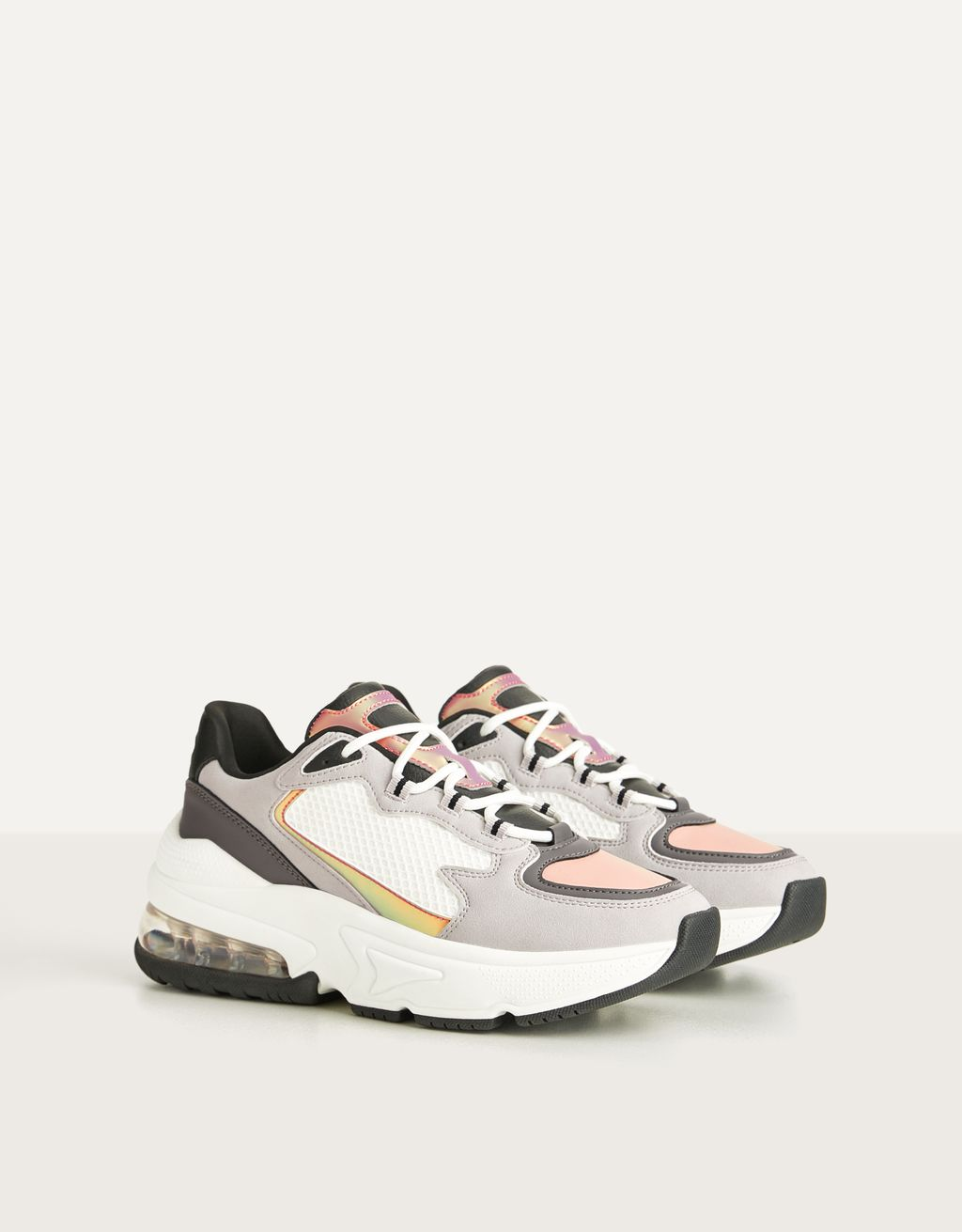 Trainers with iridescent details