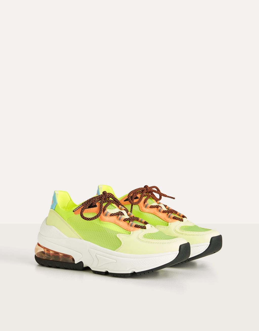 Sneakers translucides fluo